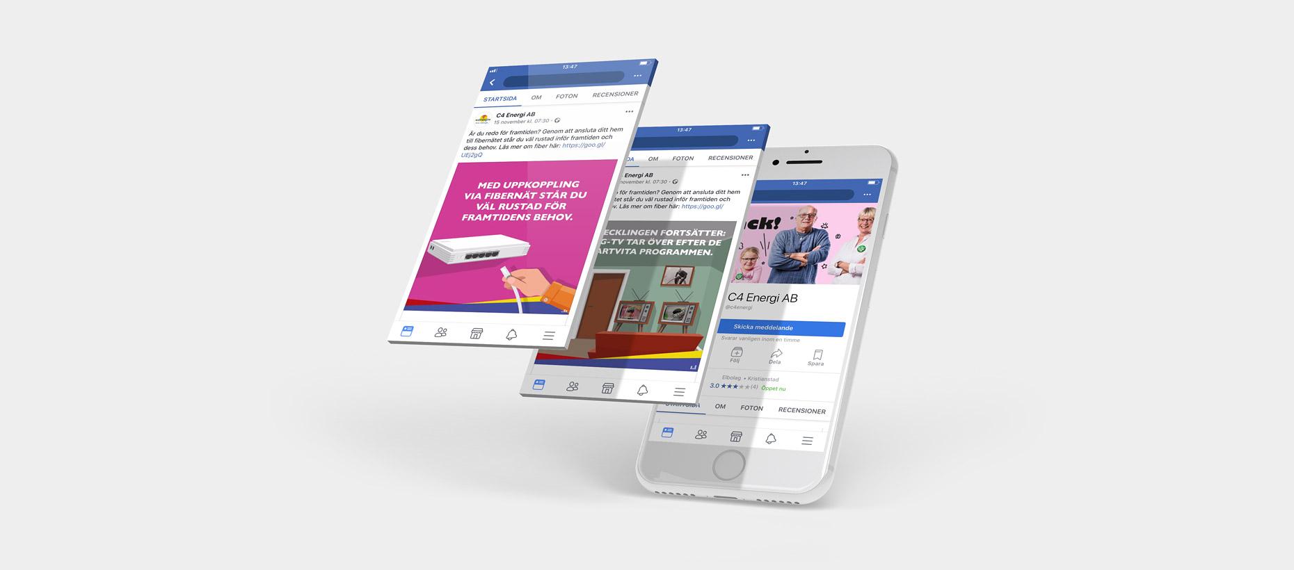 C4 Energi - Kampanj Facebook