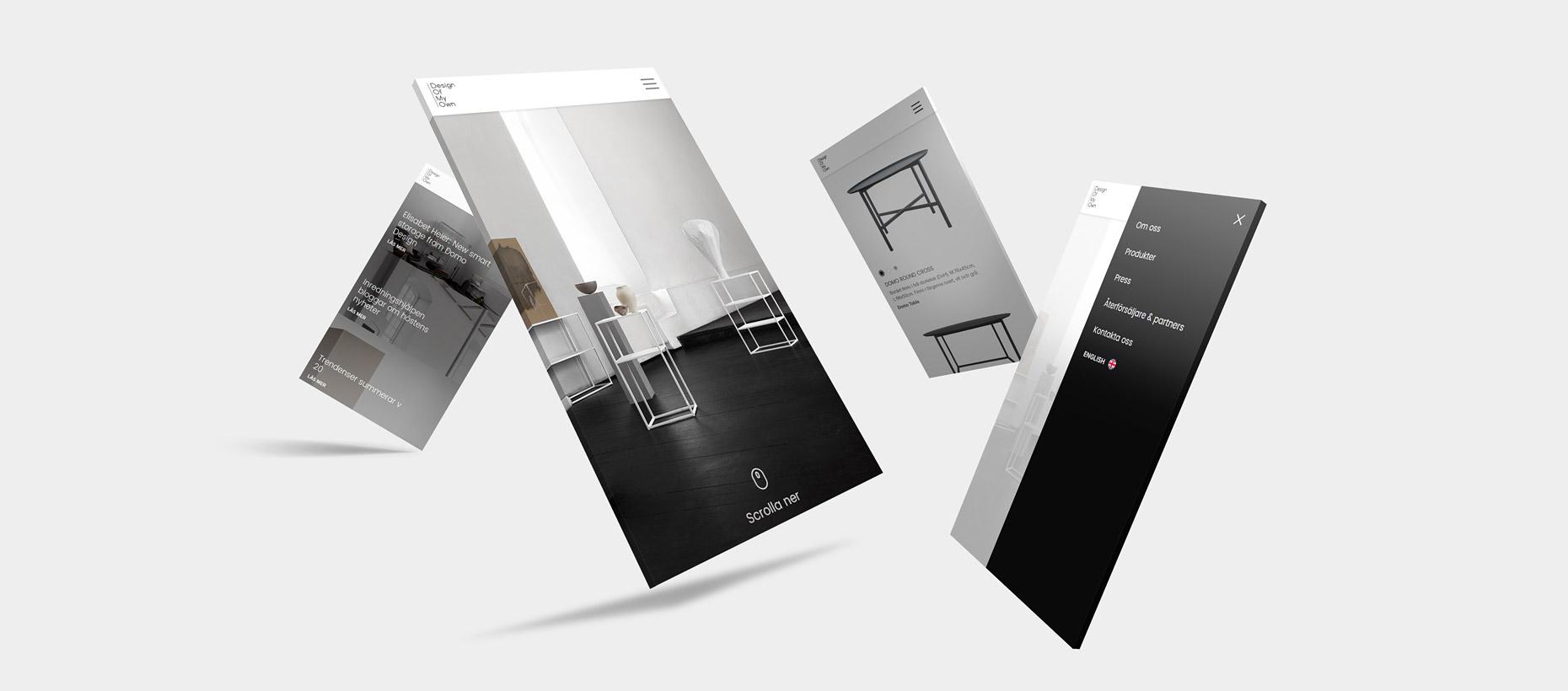 DOMO Design - Hemsida