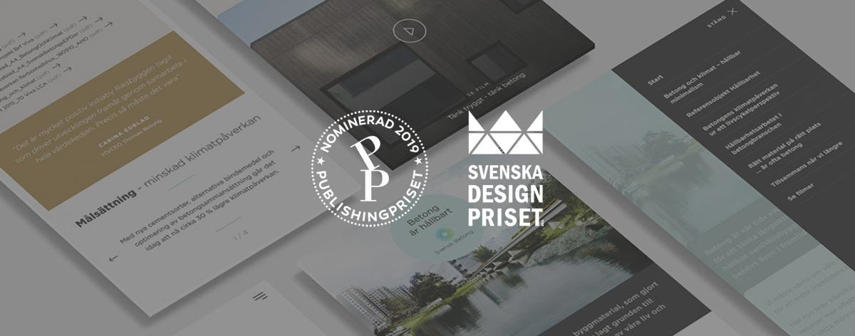 Nominerade till Svenska Publishingpriset och Svenska Designpriset