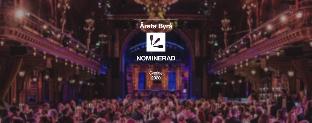 Nominerade till Årets Byrå 2020