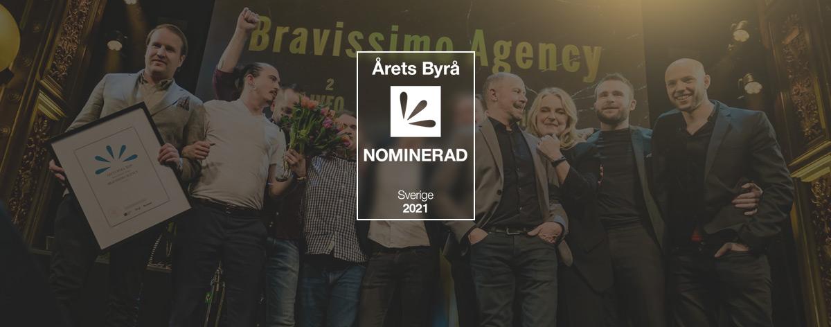 Nominerade till Årets Byrå 2021 - Bravissimo